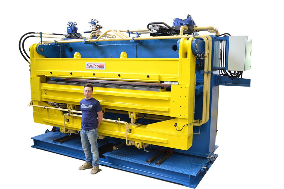 Grapadora para línea de recocido continuo 2.800x5mm Pinzas de bloqueo hidráulico de la grapa