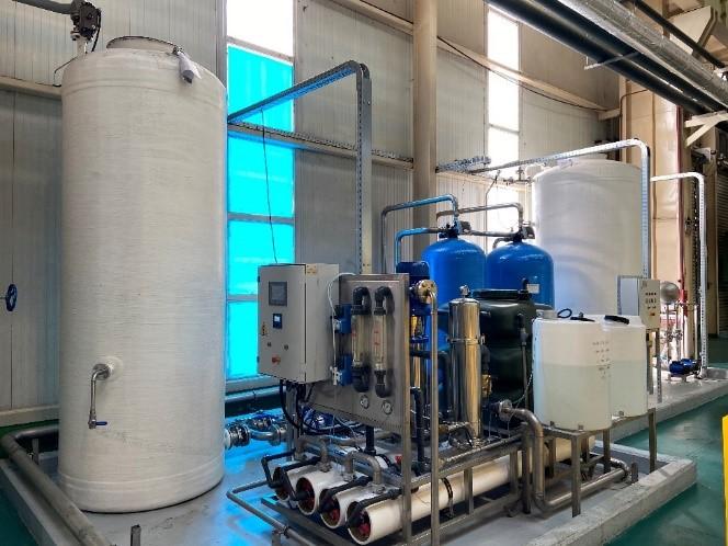 Impianto di demineralizzazione dell'acqua